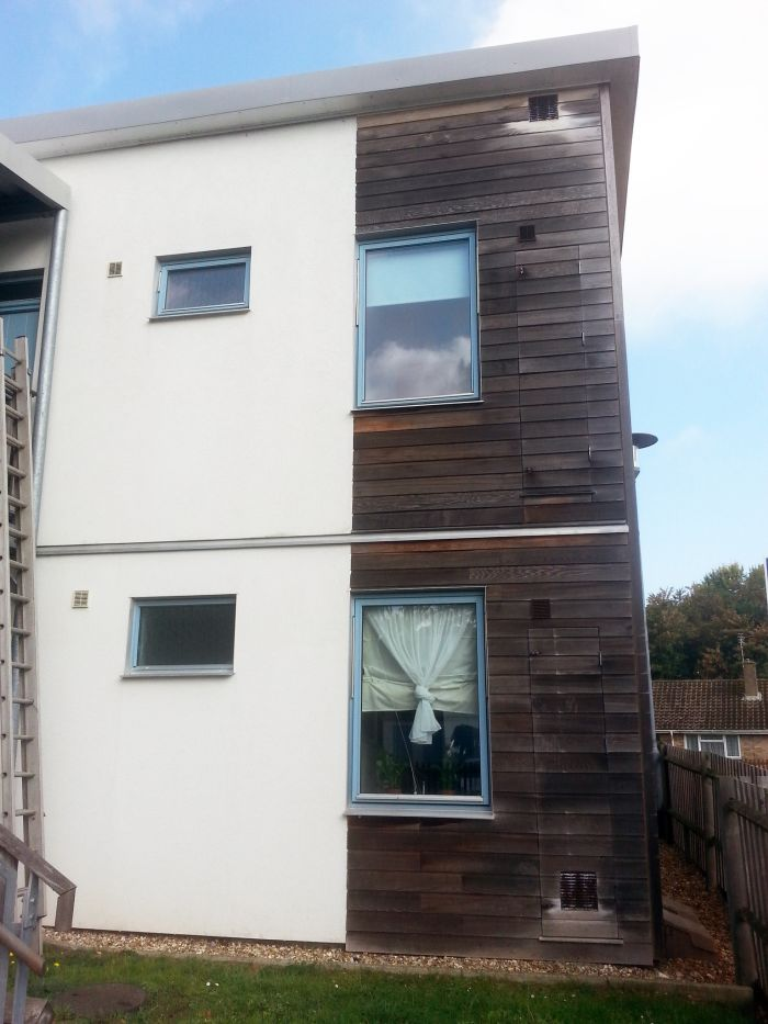 Exterior wall softwash in Leicester