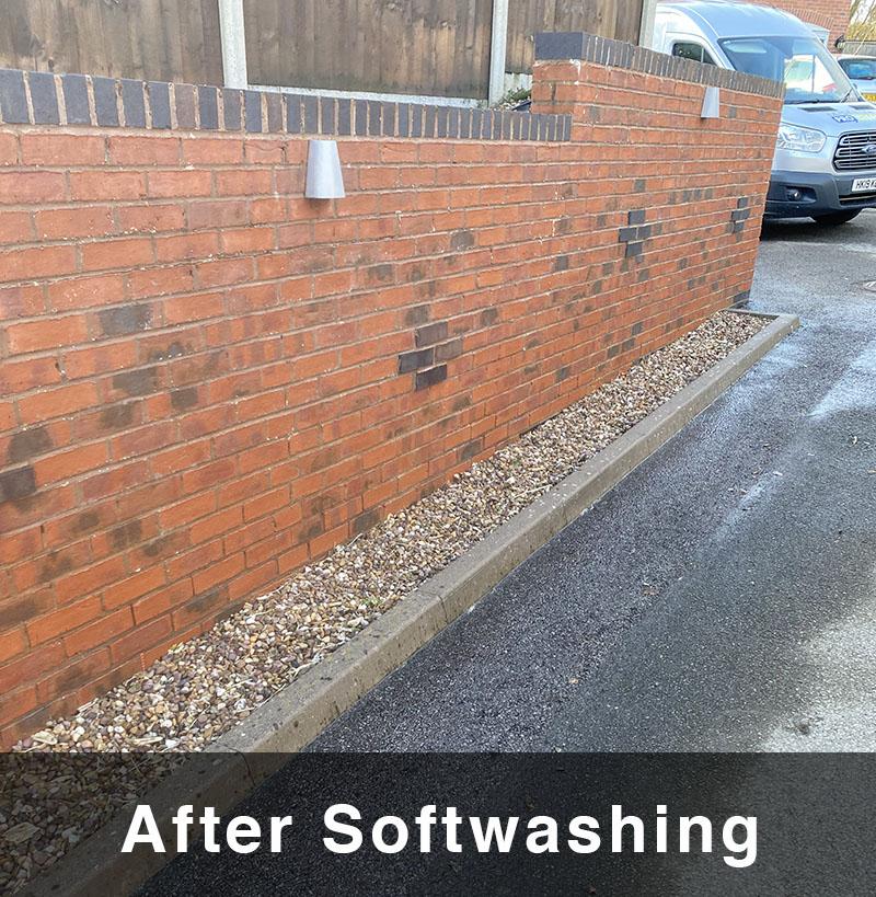 Wall afer Soft Washing