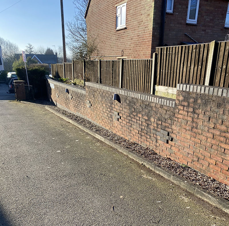 Retaining Wall with Black Mould